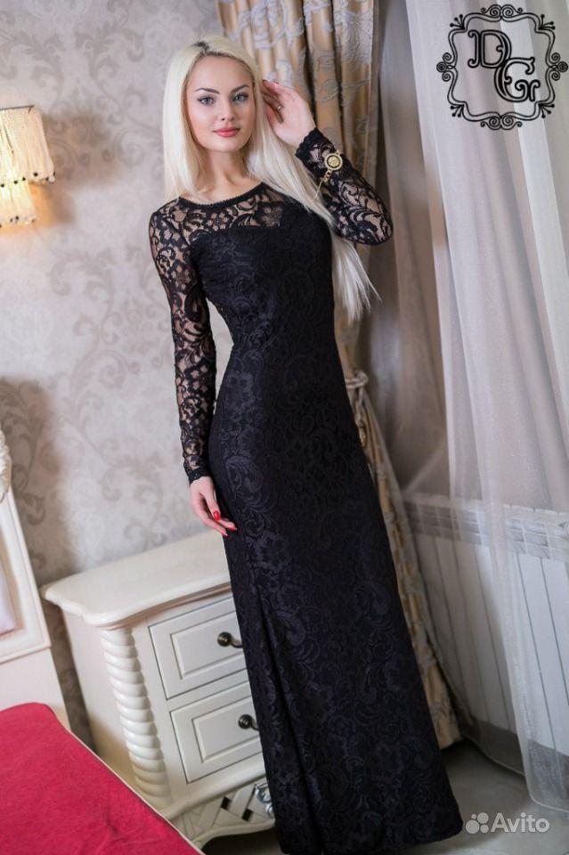 Платье Черное Гипюровое Купить