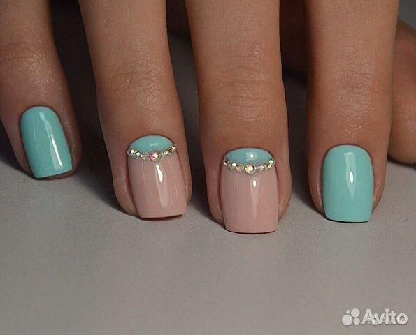 Простейший дизайн ногтей гелем