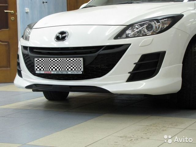 Mazda 3 юбка бампера