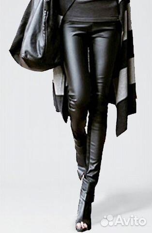 c66d057f8dca3 Комбинированные утепленные кожаные леггинсы новые купить в Санкт ...