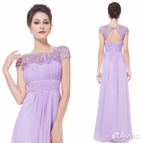 Сиреневое платье подружки невесты купить