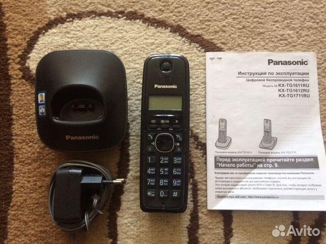 инструкция к телефону панасоник kx tg1611ru