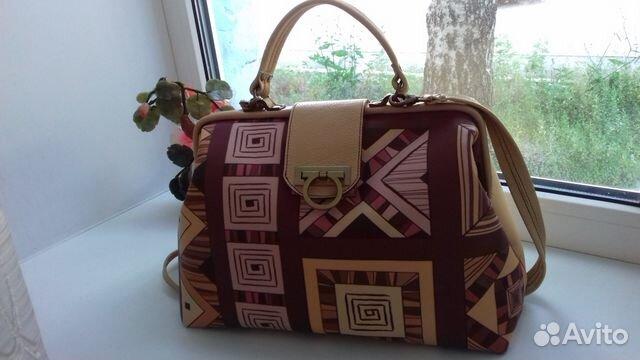 9cdf010bd9d9 Кожаная сумка - саквояж ручной работы,оригинальная— фотография №1