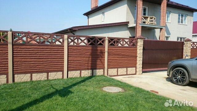 Купить забор из бетона цена формы для штамповки бетона купить