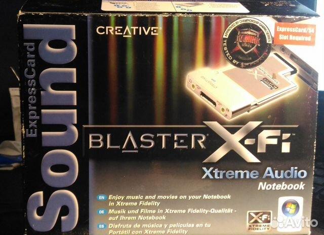 2b24dce10bbad Звуковая карта Creative X-Fi ExpressCard/54 SB0710 | Festima.Ru ...