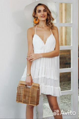 1781ccf91c2 Новое легкое летнее белое платье