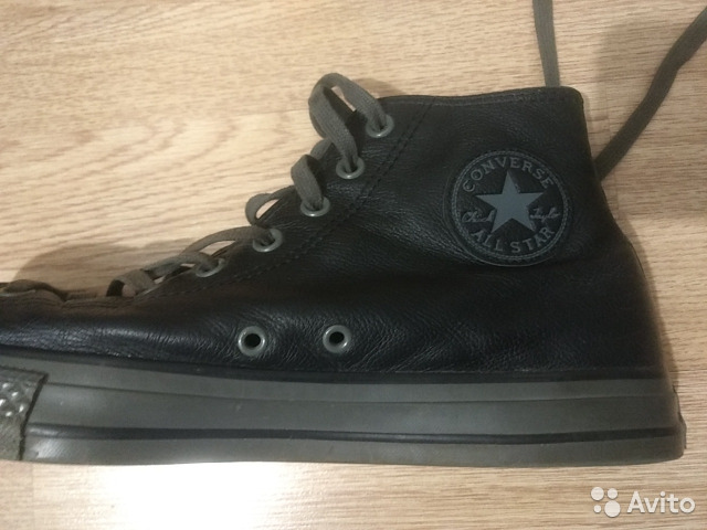 92a1c086a Черные кожаные кеды Converse 44 размера.немного б   Festima.Ru ...