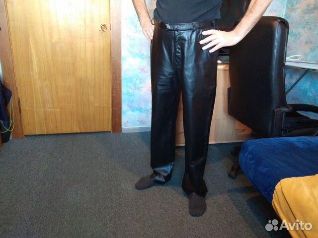 Брутальные кожаные брюки  89139131619 купить 1