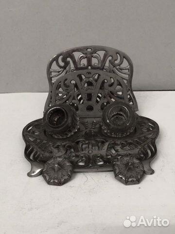 Чернильница старинная латунь 89043366666 купить 2