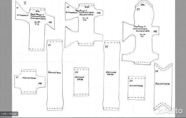 Лекало (выкройки) для изготовления оплетки рулей
