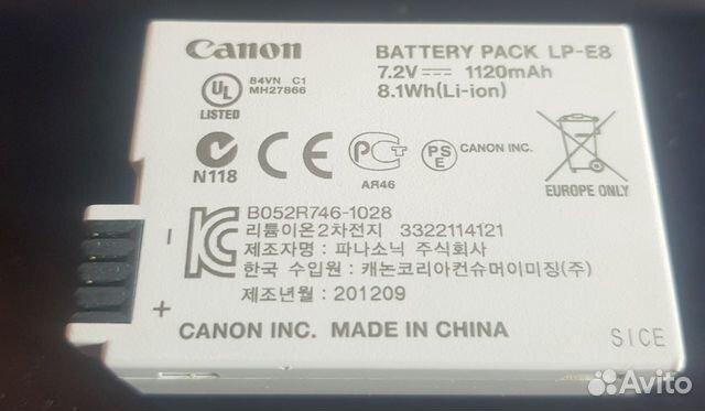 Аккумулятор Canon EOS1100D, 550D-700d 89085901437 купить 4
