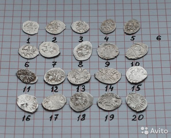 Coins of Ivan the terrible 1533-1584(scales, silver)