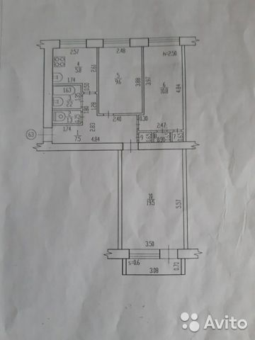 3-к квартира, 68 м², 4/5 эт. купить 10