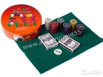 Набор для игры в Покер 120 фишек + 2 колоды