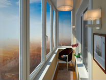 Балкон под ключ с проведением света
