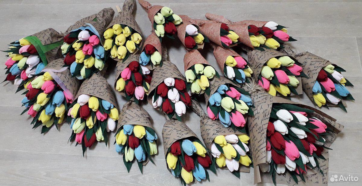 Тюльпаны с конфетами  89519989628 купить 1