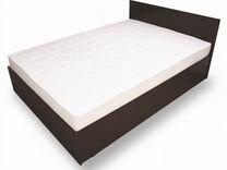 Кровать 1.6 м +хороший матрас(Венге/Ясень)