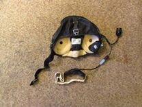 Кожаный пилотный шлем