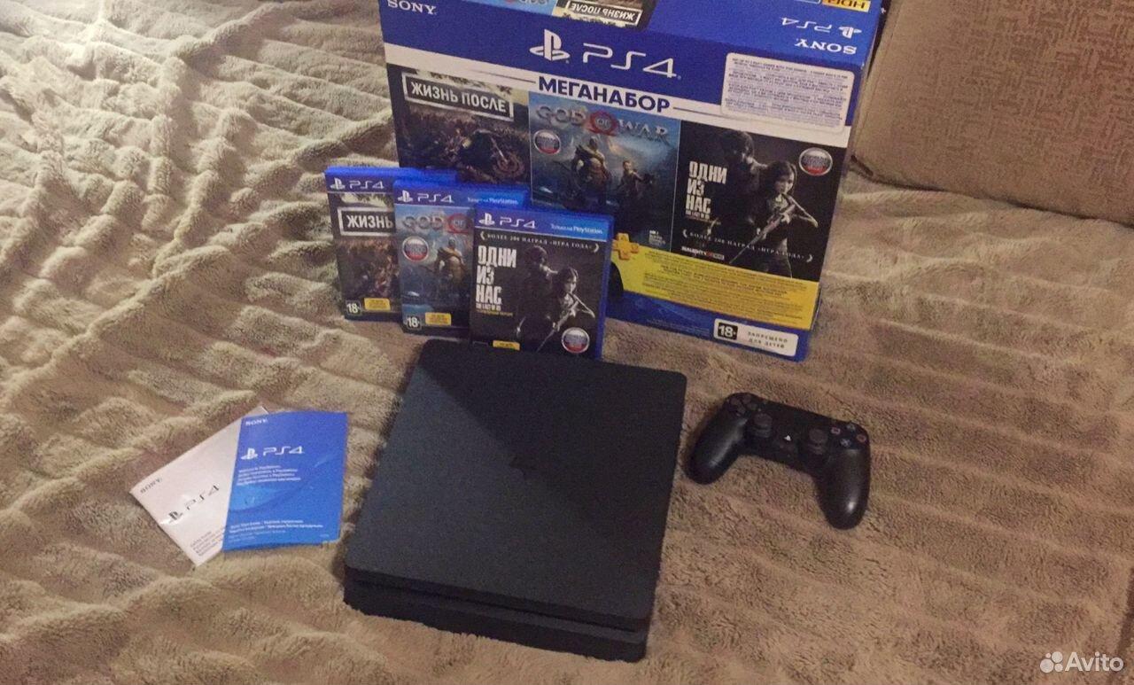 Sony PS4 Slim 1TB, новая, на гарантии + игры 89038918724 купить 2