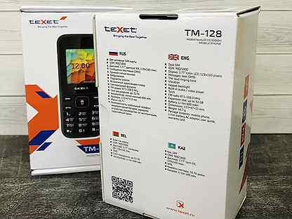 Новый телефон teXet TM-128 / Кнопочный