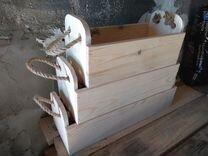 Ящики из дерева 3 шт