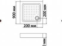 Душевой поддон BandHours Square 99-Tray 90х90