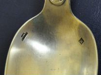 Серебренная старинная ложка