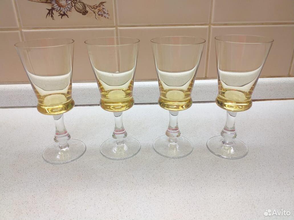 Стеклянные рюмки, бокалы из цветного стекла СССР  89807548898 купить 1