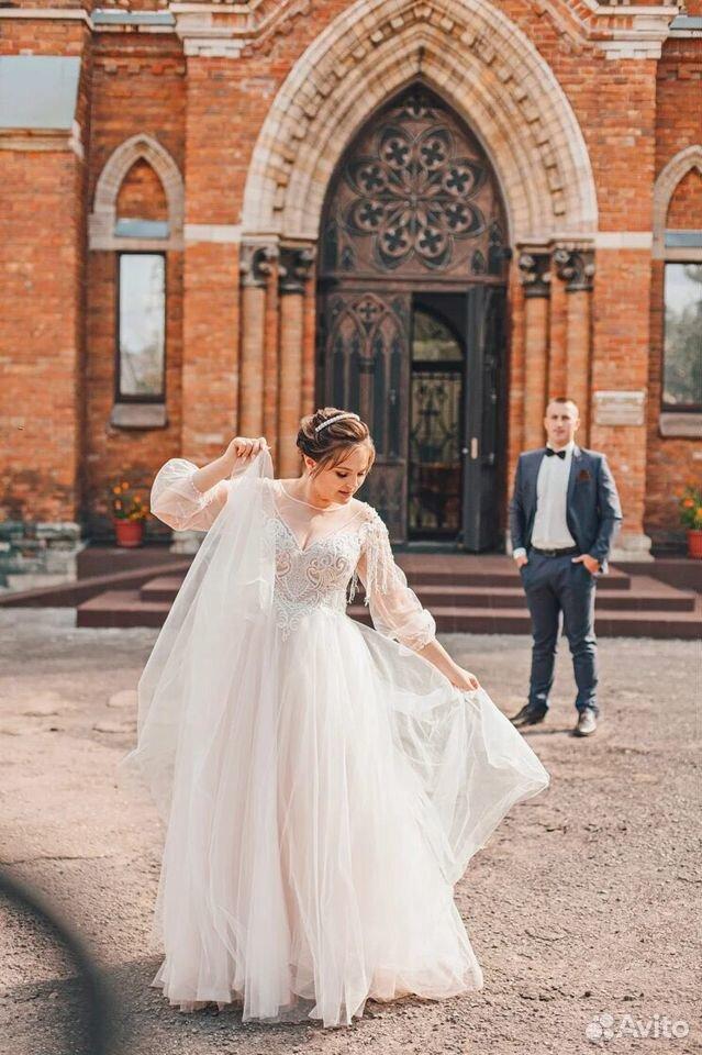 Платье свадебное 48-50 размер  89204772286 купить 5