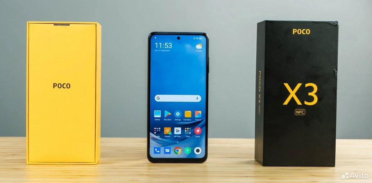 Xiaomi Poco X3 6/64 черный, синий (новый)  89275089556 купить 1
