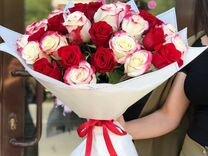 25 роз эквадор Премиум со склада. Цветы с доставко