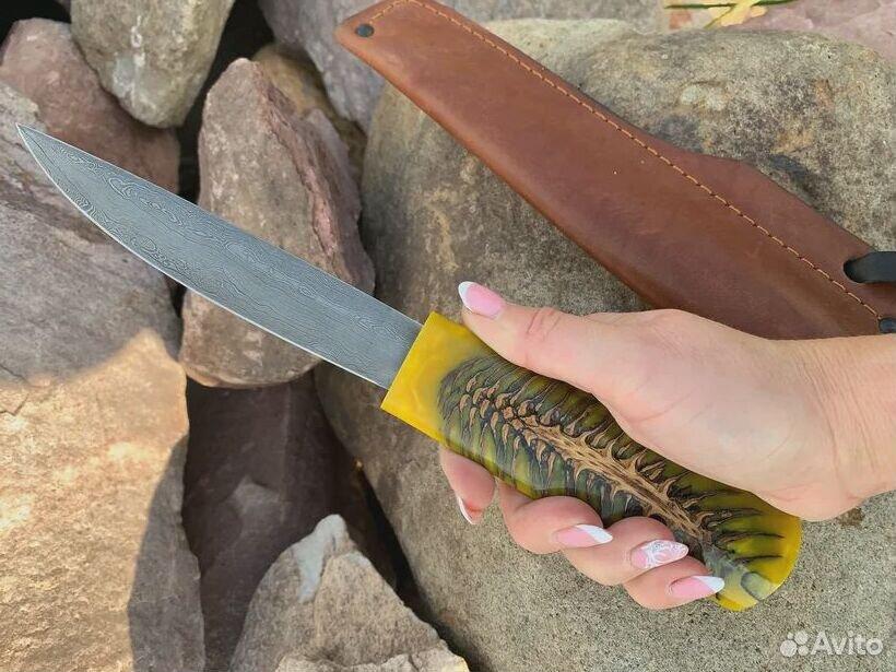 Якутский нож, сталь дамаск, рукоять акрил  89519097201 купить 3
