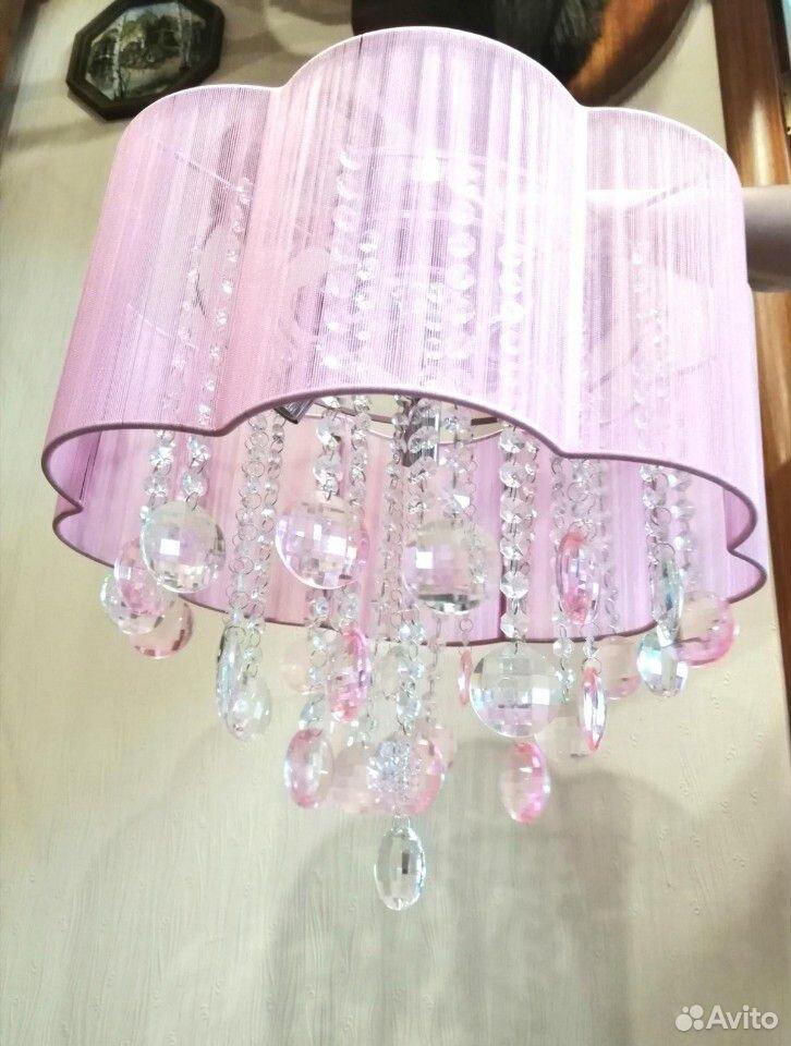 Люстра с кристаллами (стекло) на 5 лампочек  89292693193 купить 1