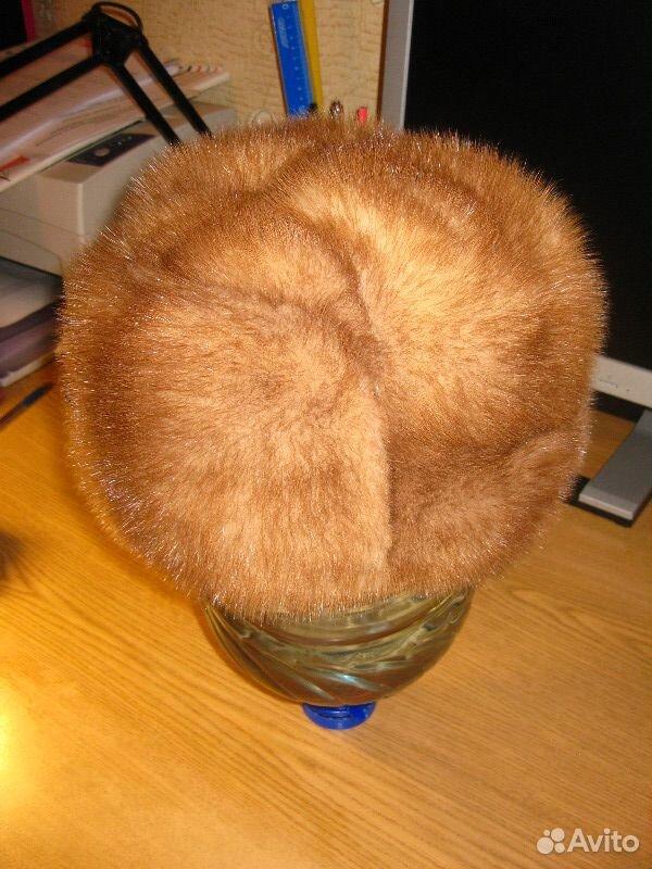Норковая шапка-формовка, р.57-58  89137409809 купить 3