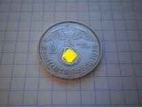 Германия,третий рейх.2 марки 1938 год(А) А.серебро