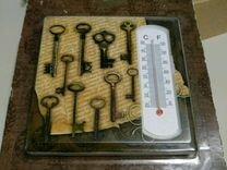 Термометр декоративный из доломитовой керамики