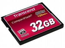 Карта CF Compact Flash Transcend 32 gb (800x)