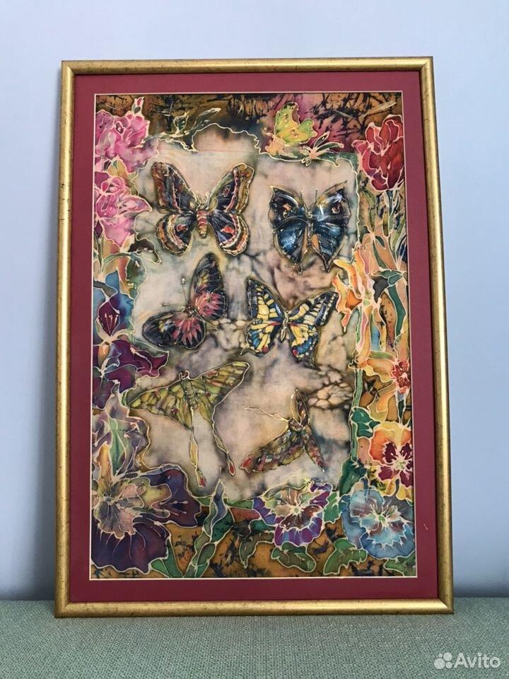 Картина-батик-бабочки 89180478771 купить 1