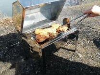 Гриль-мангал-коптильня-барбекю- духовка из нержав
